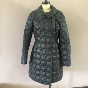 Akris Punto puffer coat in lovely petrol blue